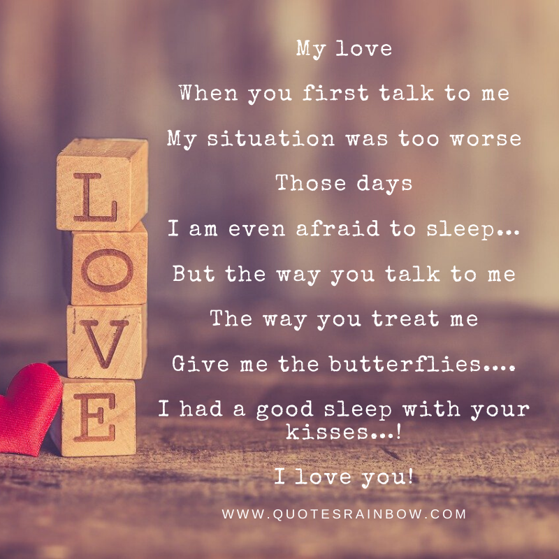 I love you, a Love quotes for whatsapp
