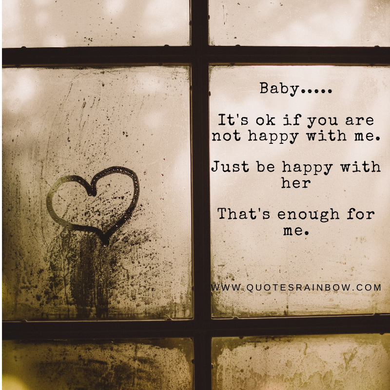 Just be happy with her love quotes
