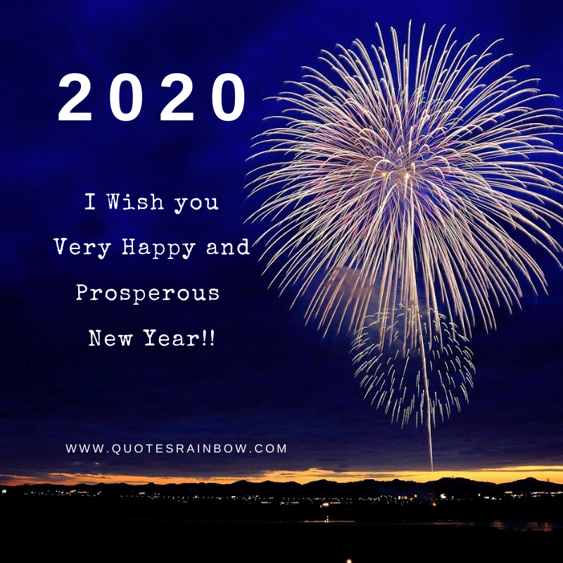 Wishing prosperous new year for 2020